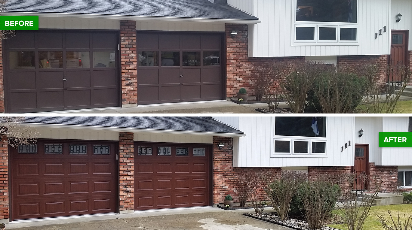 Before And After Garage Door Transformations
