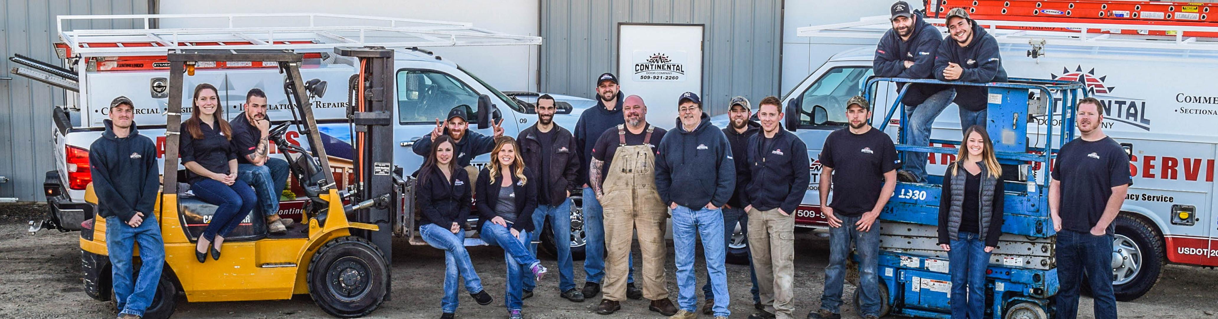 meet the office team continental door spokane valley wa